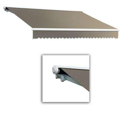 20 ft. Galveston Semi-Cassette Manual Retractable Awning (120 in. Projection) in Taupe