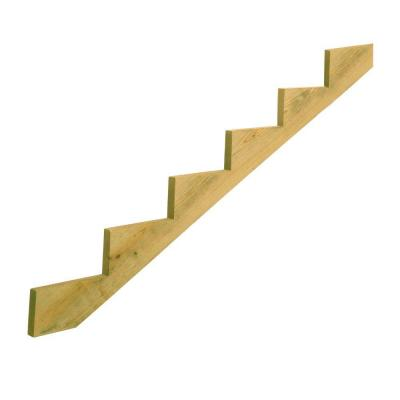 6-Step Ground Contact Pressure-Treated Pine Stair Stringer