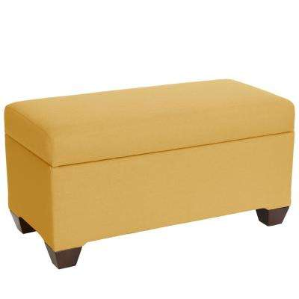 Wonderful Klein Mustard Storage Bench