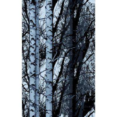 Wood 26 in. x 59 in. Home Decor Premium Static Cling Window Film