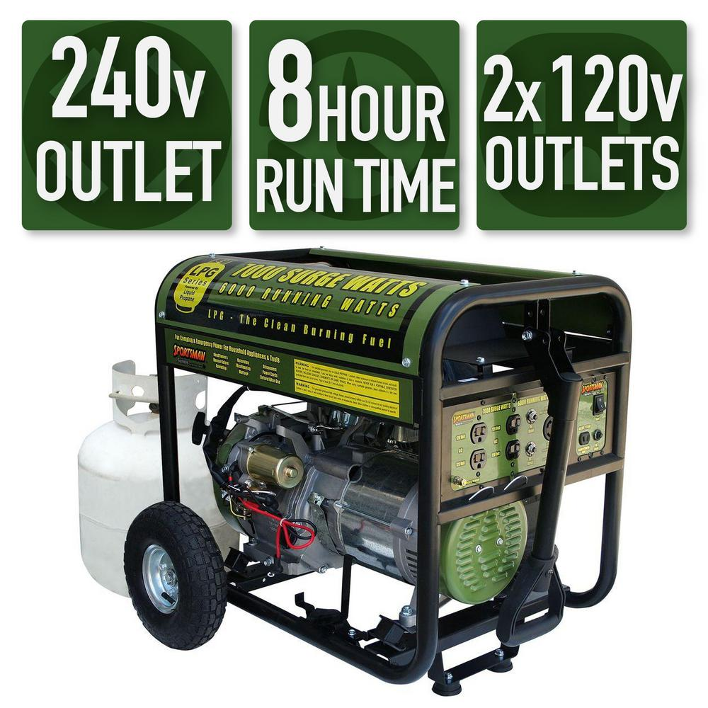 This Review Is From 7 000 6 Watt Propane Gas Ed Electric Start Portable Generator