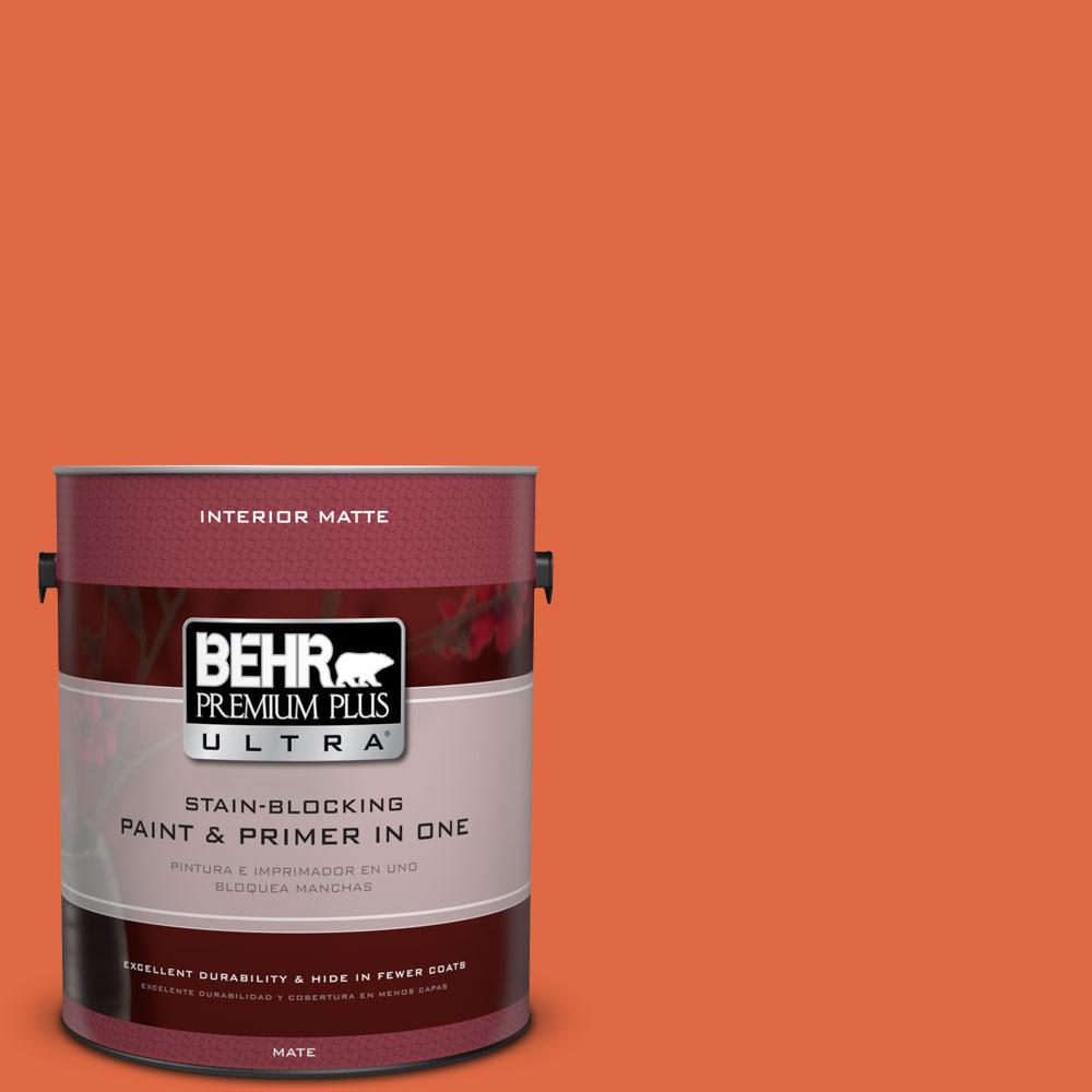 1 gal. #P200-7 Bonfire Night Matte Interior Paint