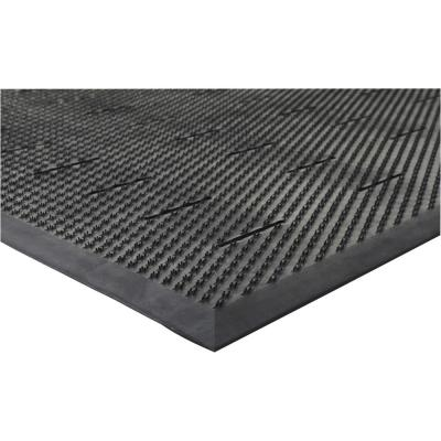 Free Flow Comfort Black 36 in. x 48 in. Rubber Anti-Fatigue Mat