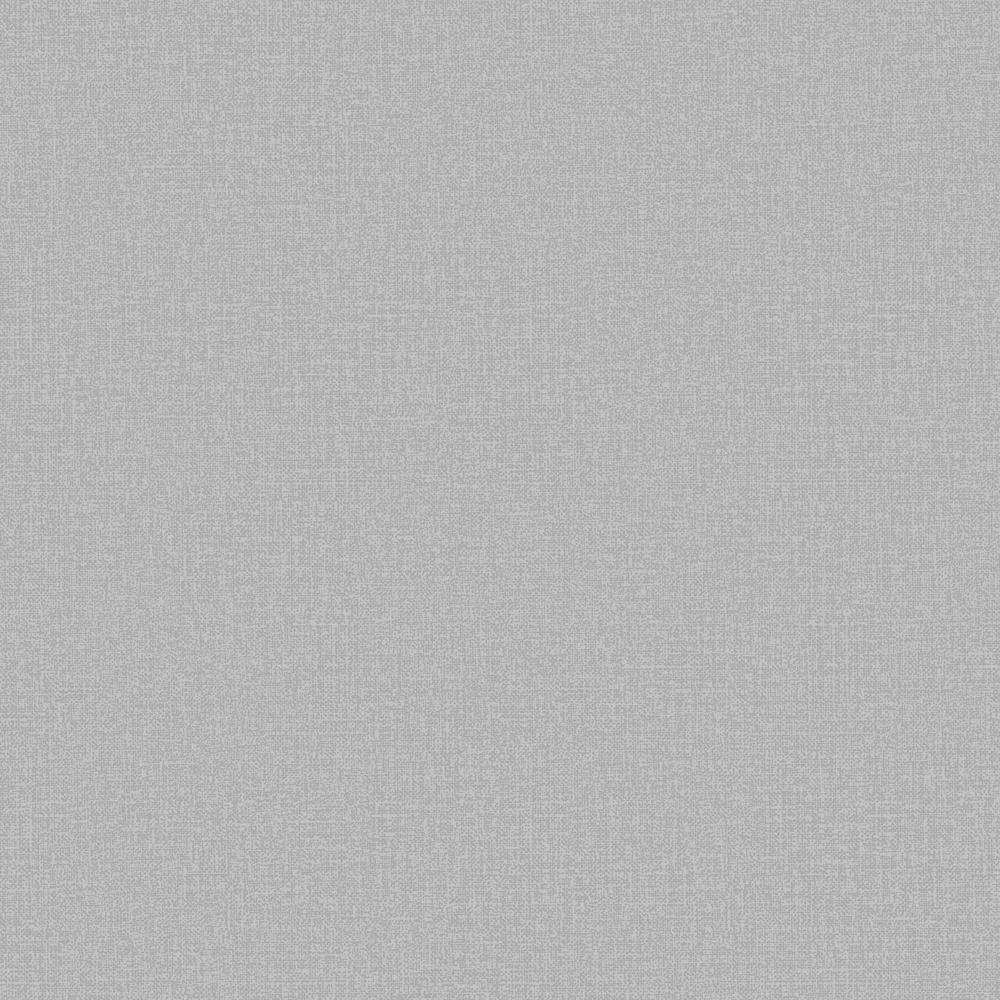 Dark Grey Linen Plain Wallpaper