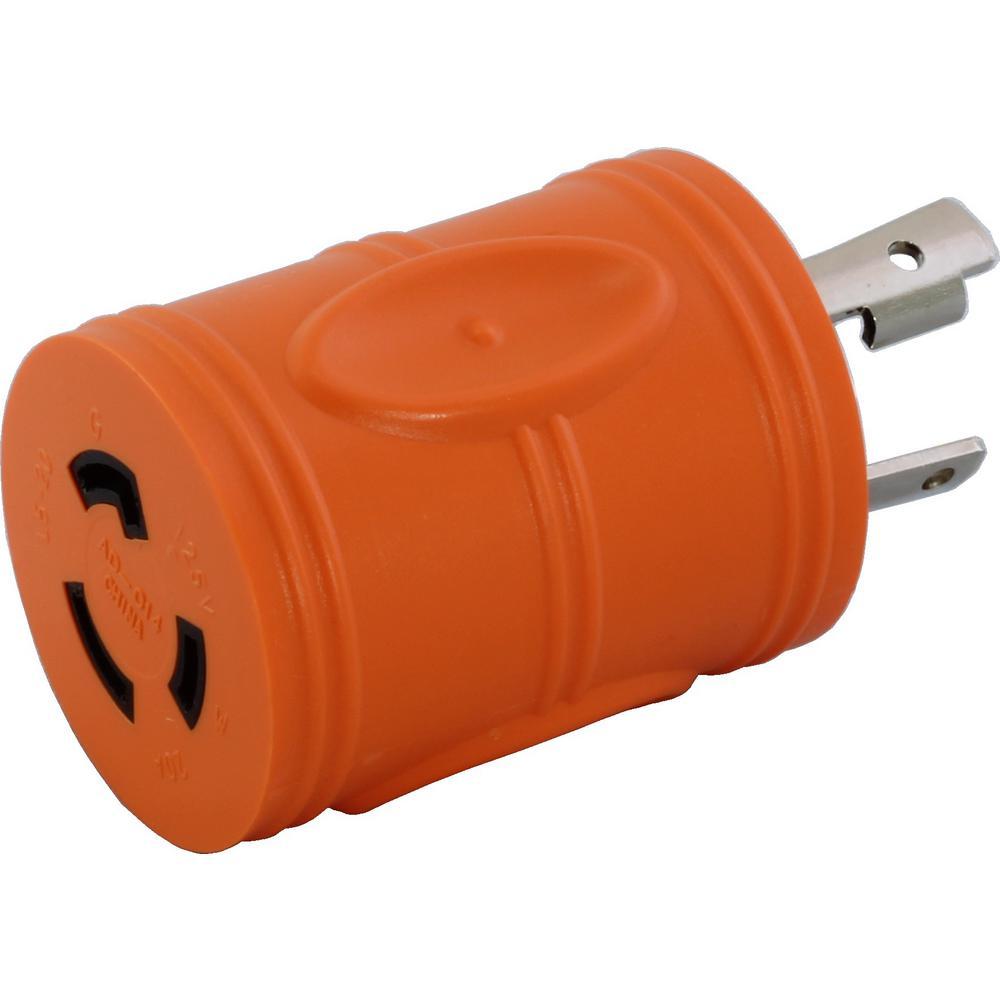 Locking adapter nema l5 30p 30 amp 125 volt locking plug to l5 20r locking adapter nema l5 30p 30 amp 125 volt locking plug to l5 publicscrutiny Image collections