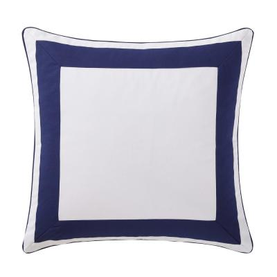 Indienne Navy and White Euro Pillow Cover