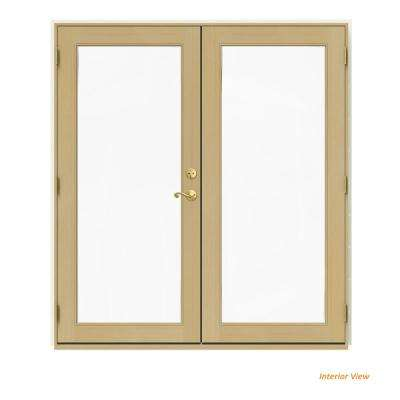 72 in. x 80 in. W-2500 Vanilla Clad Wood Right-Hand Full Lite French Patio Door w/Unfinished Interior