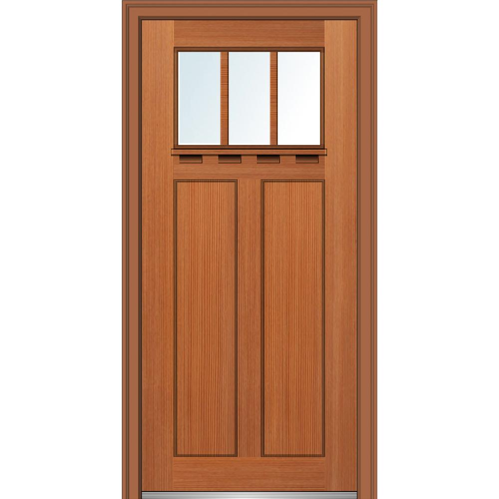 Mmi Door 32 In X 80 In Low E Glass Right Hand Craftsman 2 Panel 3