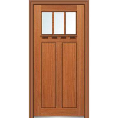 32 X 80 Right Handinswing Craftsman Fiberglass Doors Front