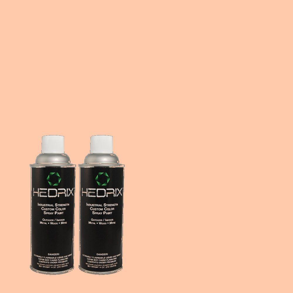 Hedrix 11 oz. Match of 210A-3 Malibu Peach Flat Custom Spray Paint (2-Pack)
