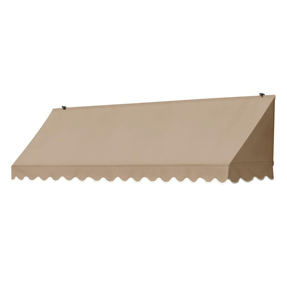 Awnings in a Box 8 ft. Traditional Manually Retractable Awning (26.5 in. Projection) in Sand