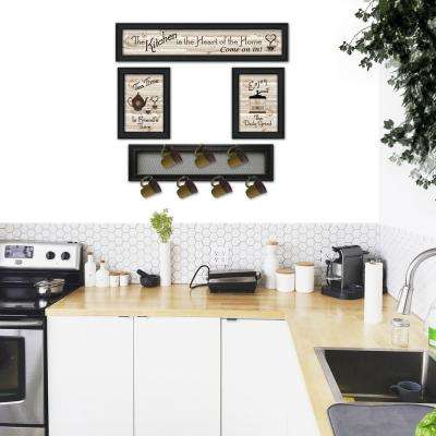 Kitchen Collection IV 4-Piece Vignette with 7-Peg Mug Rack Decorative Sign