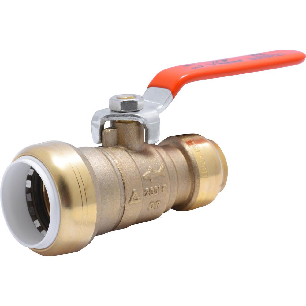 SharkBite 1 in. Push-to-Connect PVC IPS x 3/4 in. CTS Brass Ball Valve