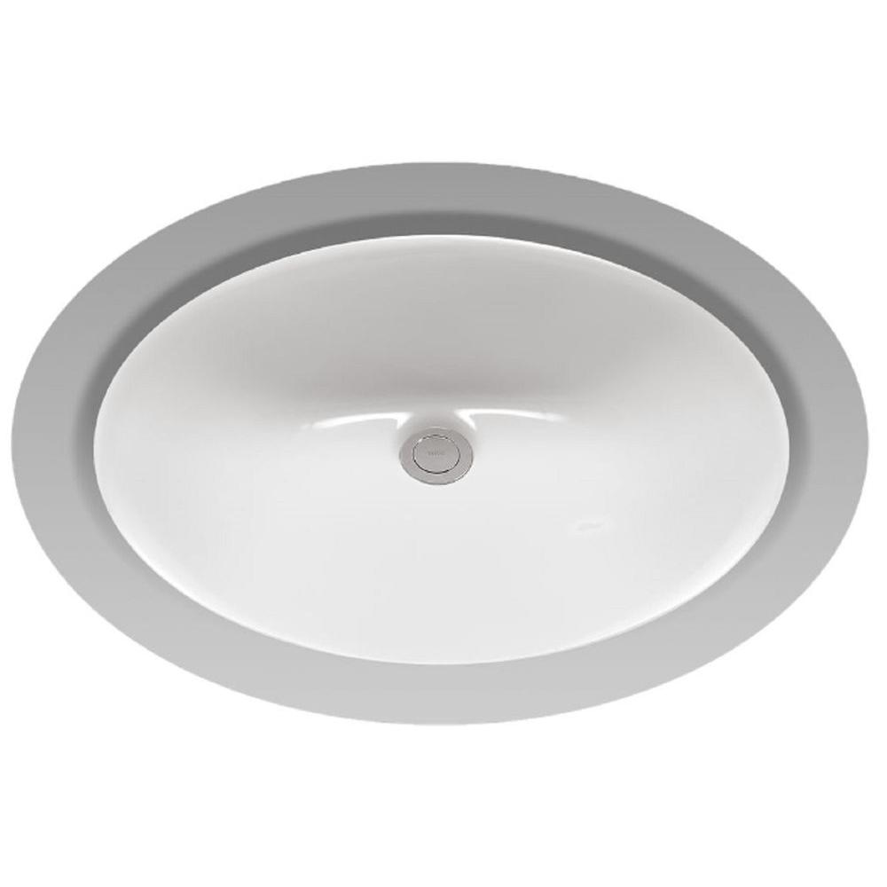 Toto rendezvous 17 in undermount bathroom sink with cefiontect in cotton white lt579g 01 the Toto undermount bathroom sinks