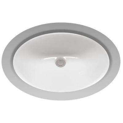 Rendezvous 17 in. Undermount Bathroom Sink with CeFiONtect in Cotton White
