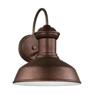 Fredricksburg weathered copper outdoor integrated led wall mount lantern