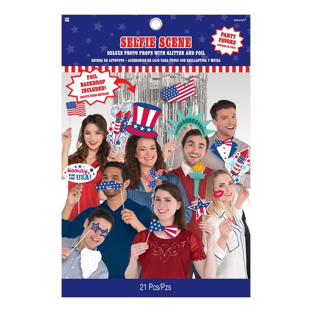 Patriotic Selfie Scene Kit (21-Count)