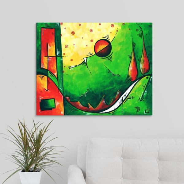 Forces Of Nature Colorful Contemporary Landscape By Megan Duncanson Canvas Wall Art