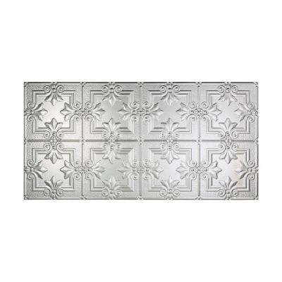 Regalia 2 ft. x 4 ft. Glue-up Ceiling Tile in Brushed Aluminum