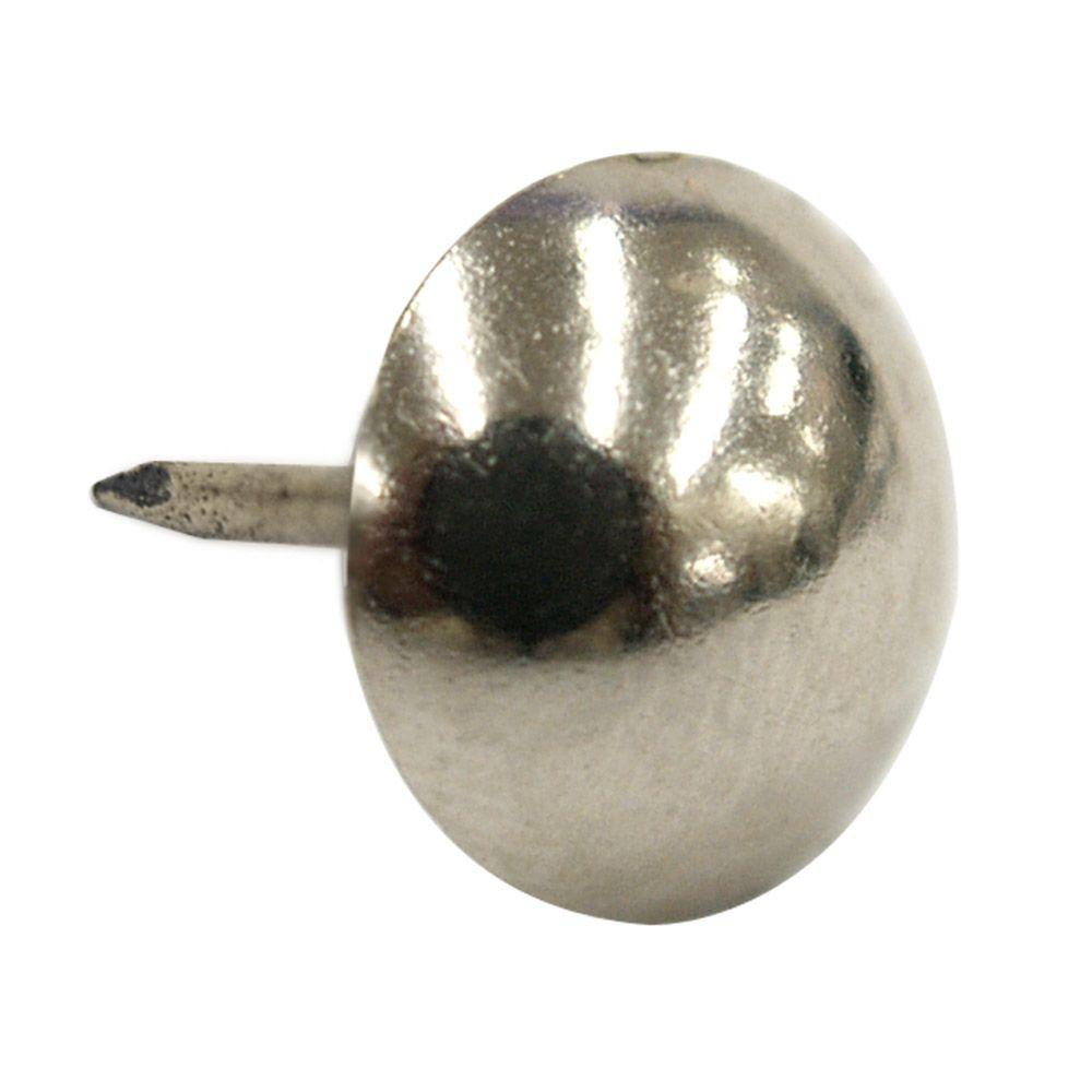 Hillman Nickel Large Round Head Furniture Nails 25 Pack