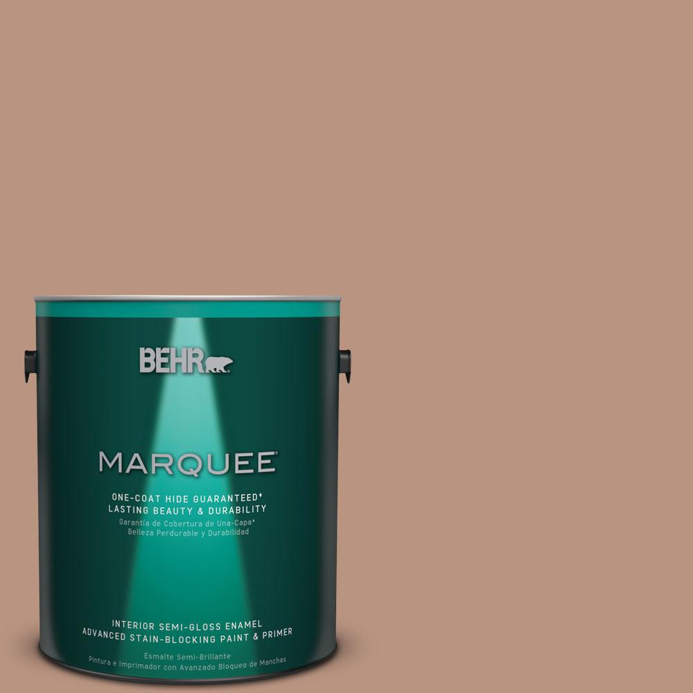 BEHR MARQUEE 1 gal. #MQ1-59 Caramel Cream Semi-Gloss Enamel One-Coat Hide Interior Paint and Primer in One