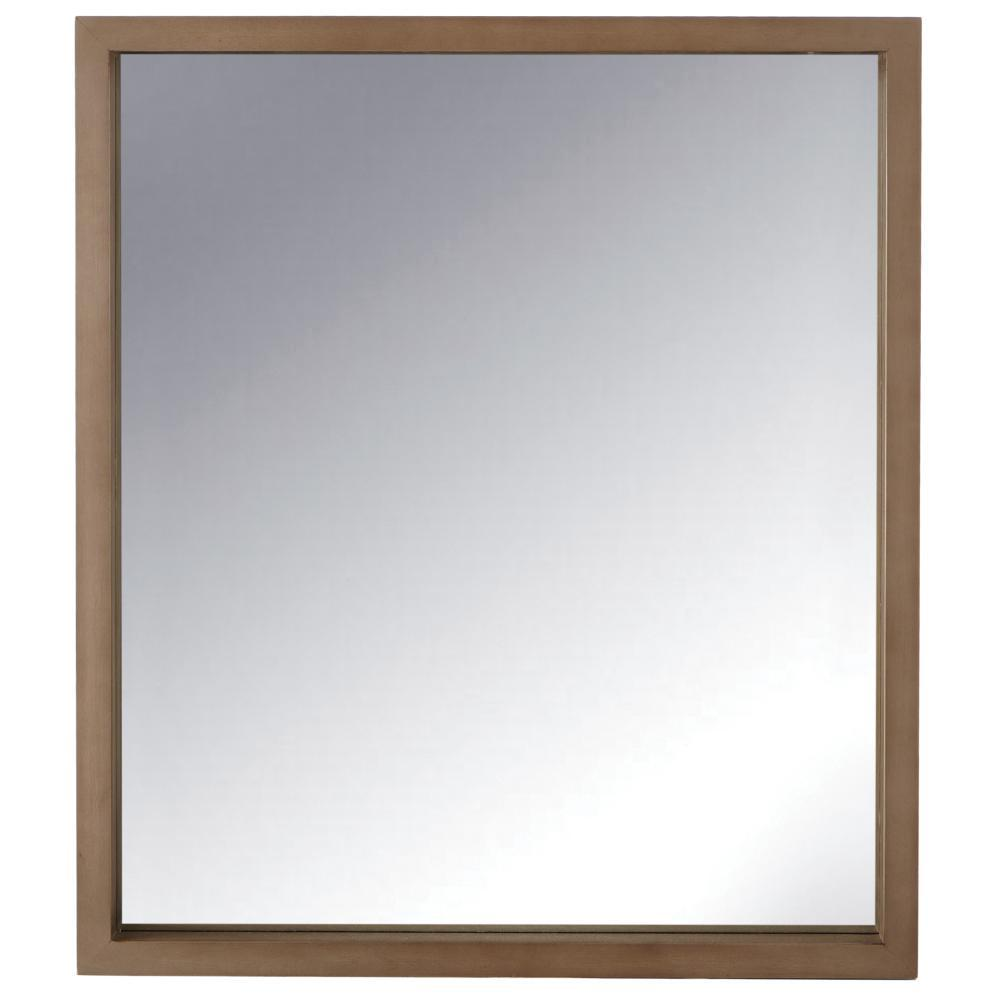 Home decorators collection sedona 28 in x 32 in framed mirror in fawn grey 9966100270 the Home decorators collection mirrors