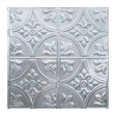 Traditional Style #2 2 ft. x 2 ft. Brushed Aluminum Vinyl Lay-In Ceiling Tile