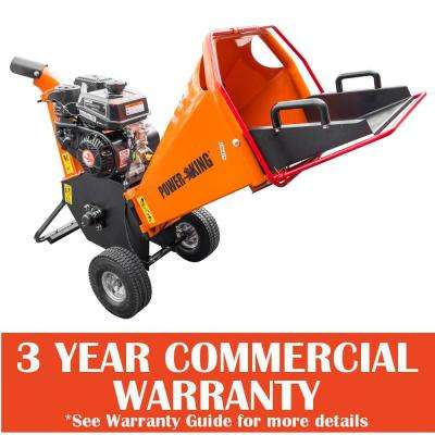 3 in. 6.5 HP Gas Powered Chipper Shredder with Removable Tow Hitch Bar with Swing Chute