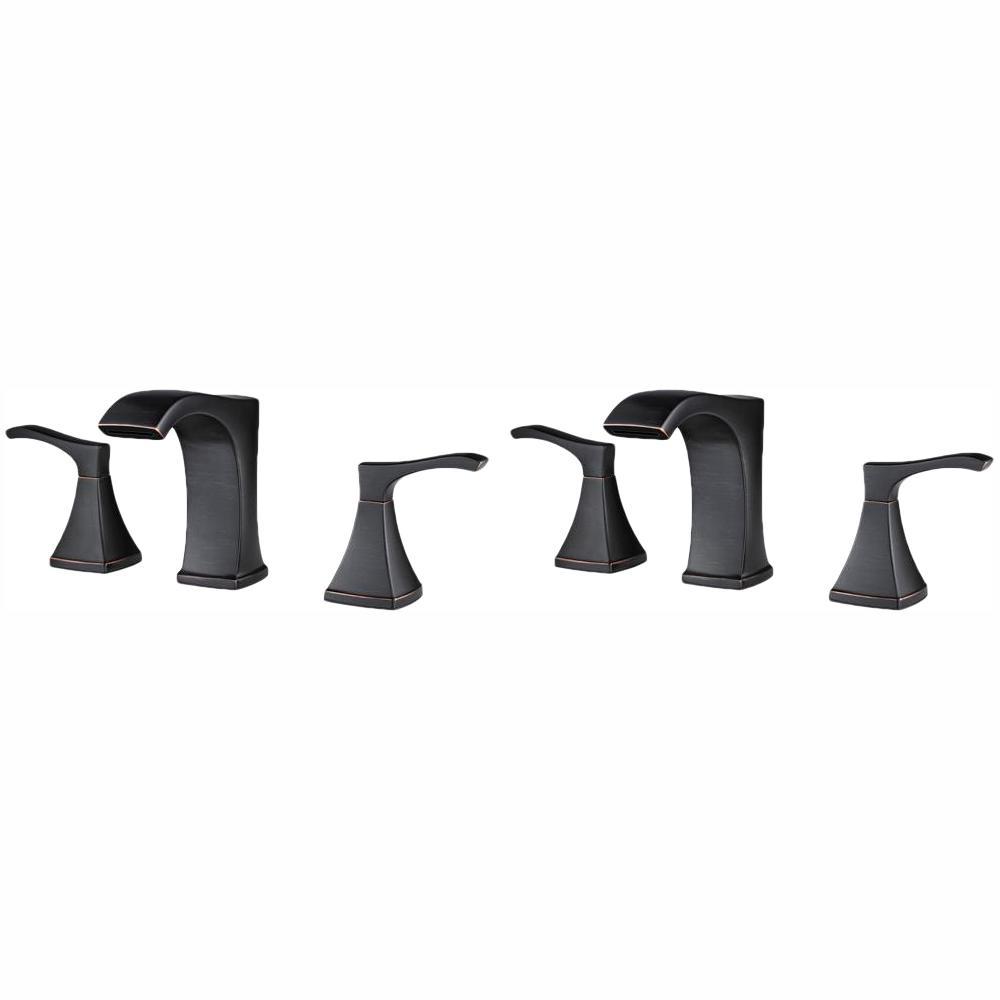 Venturi 8 in. Centerset 2-Handle Bathroom Faucet in Tuscan Bronze - (2-Pack Combo)