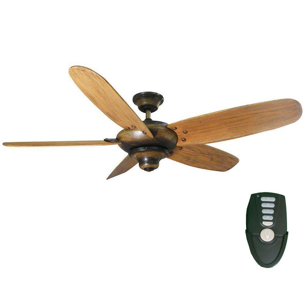 Altura 56 in. Indoor Gilded Espresso Ceiling Fan with Remote Control
