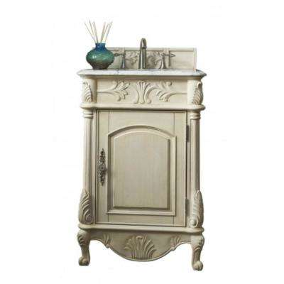 Nice W Single Vanity In Vintage Vanilla With Marble Vanity Top