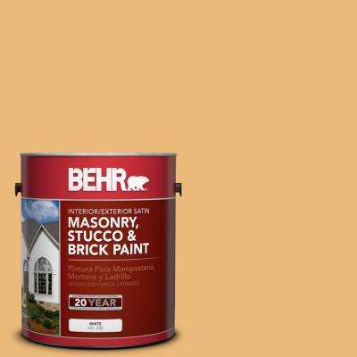 1 gal. #BXC-61 Early Harvest Satin Interior/Exterior Masonry, Stucco and Brick Paint