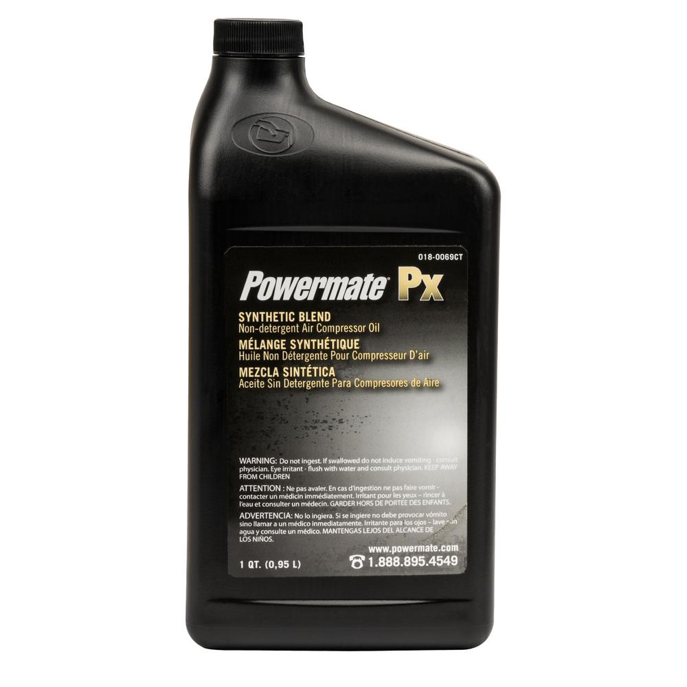 Powermate 1 qt. Synthetic Blend Non Detergent Air Compressor Oil