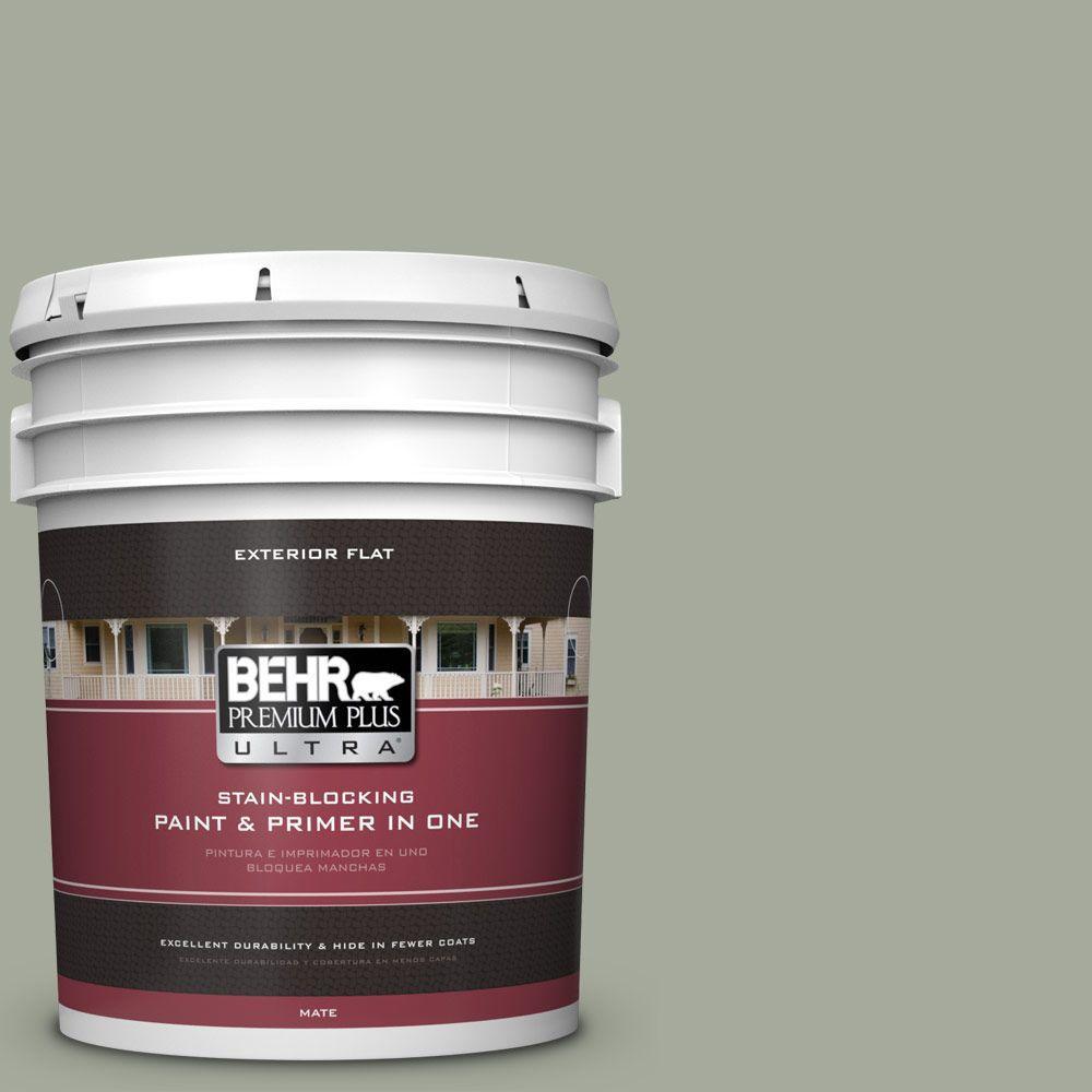 BEHR Premium Plus Ultra Home Decorators Collection 5-gal. #HDC-AC-18 Garden Promenade Flat Exterior Paint