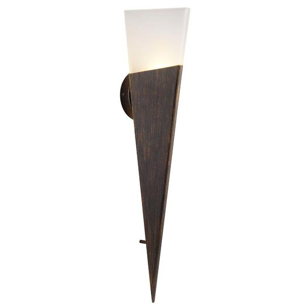 Eglo Kani 2-Light Outdoor Rich Bronze Wall Light