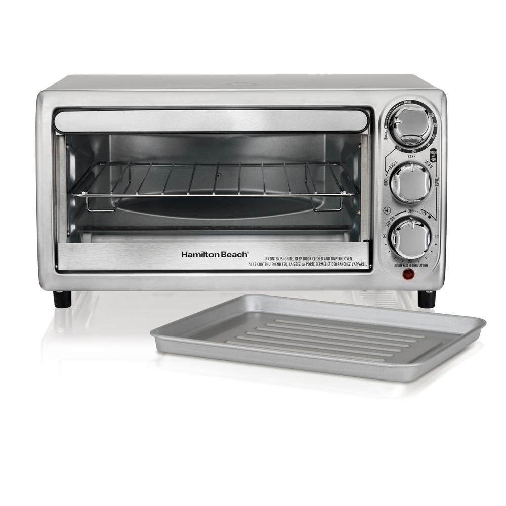 1100-Watt 4-Slice Stainless Steel Toaster Oven