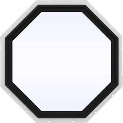 35.5 in. x 35.5 in. V-4500 Series Fixed Octagon Vinyl Window - Bronze