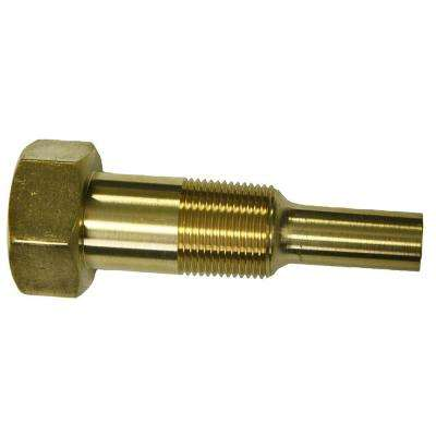 3/4 in. - 14 NPT External Threads Cast Brass Thermowell with Lagging Extension
