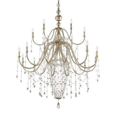 Collana Collection 18-Light Silver Leaf Chandelier
