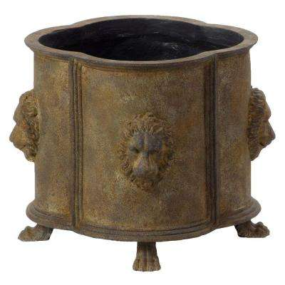 Luxembourg Antique Rust Resin Planter