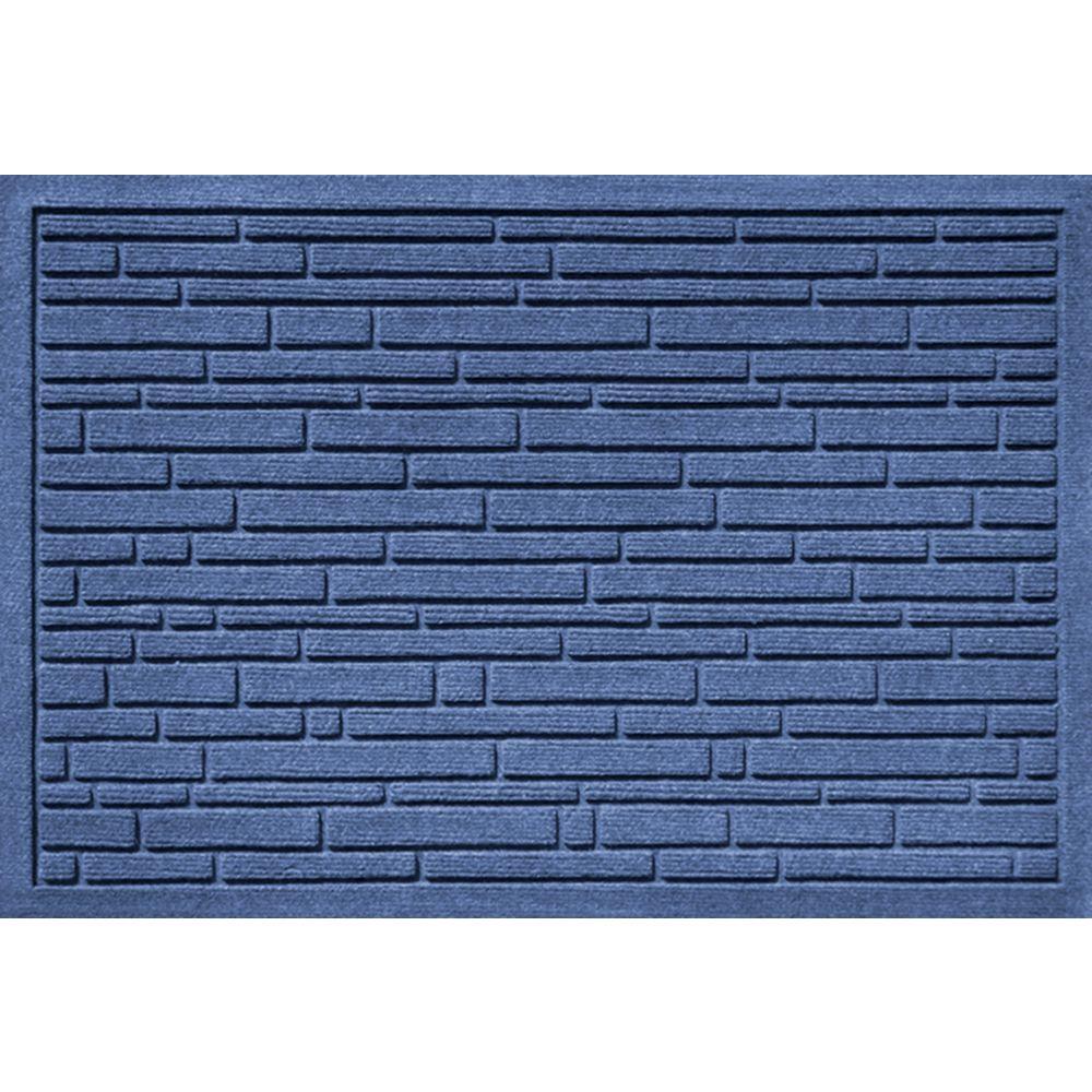 Aqua Shield Broken Brick Medium Blue 17.5 in. x 26.5 in.