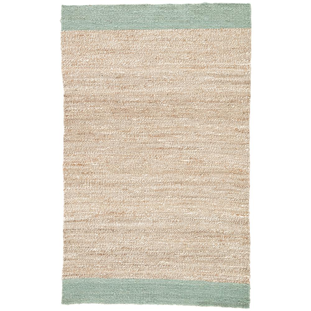 Surfboard Area Rug: Jaipur Rugs Natural Blue Surf 5 Ft. X 8 Ft. Borders Area
