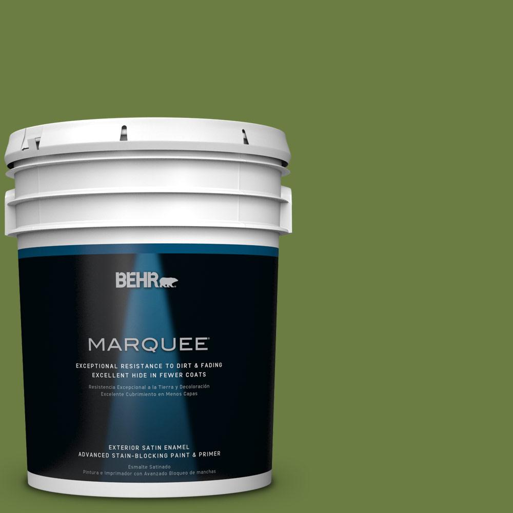 BEHR MARQUEE 5-gal. #M350-7 Healing Plant Satin Enamel Exterior Paint