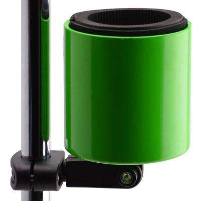 Kroozercups Deluxe Drink Holder Fit Bars from 5/8 in. to 1-3/8 in. at any Angle with New Super-Tight Grip in Lime Green