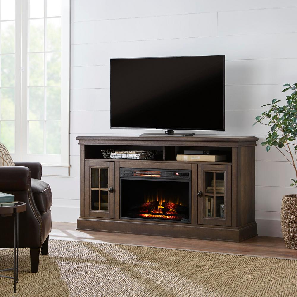 Highview 59 in. Freestanding Media Console Electric Fireplace TV Stand in
