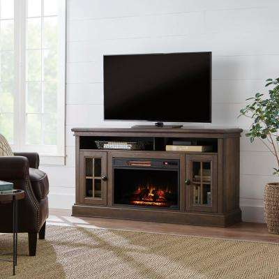 Highview 59 in. Freestanding Media Console Electric Fireplace TV Stand in Canyon Lake Pine
