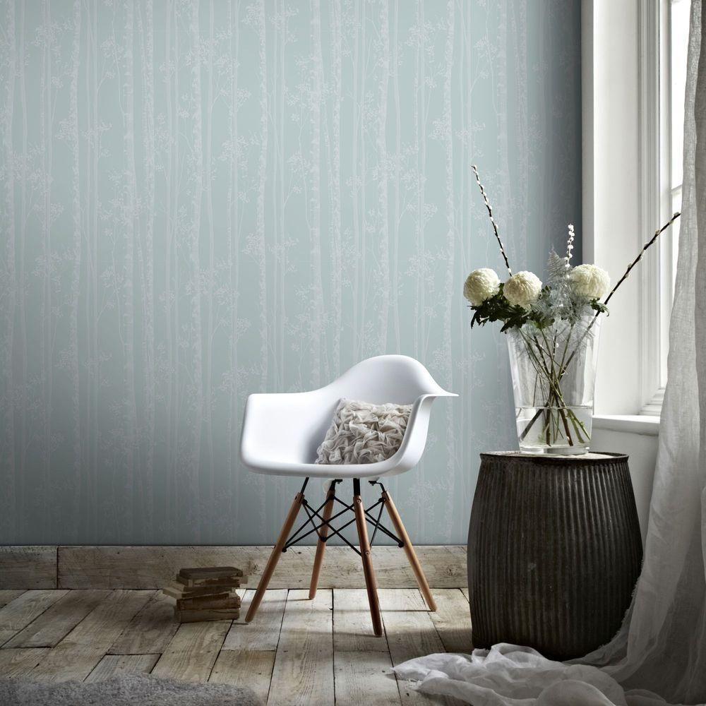 Graham & Brown Blue and White Linden Wallpaper-100524 ...