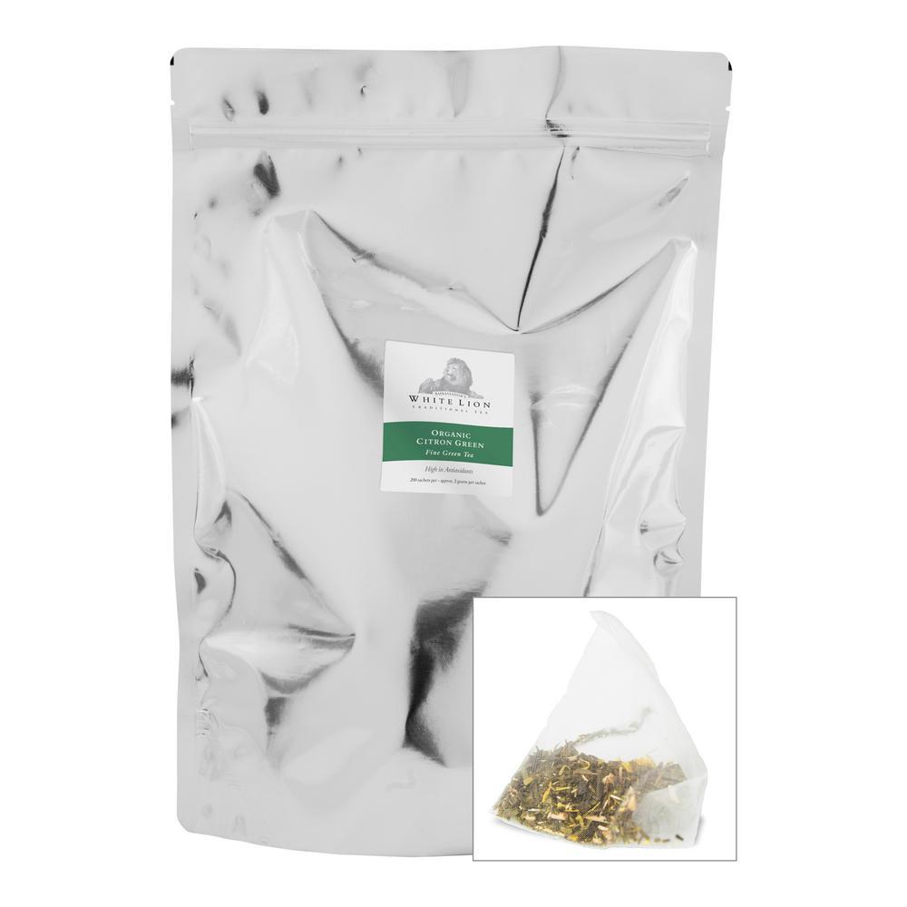 Tea Organic Citron Green Bulk Sachets Food Service Tea Bags (200 per Pack)