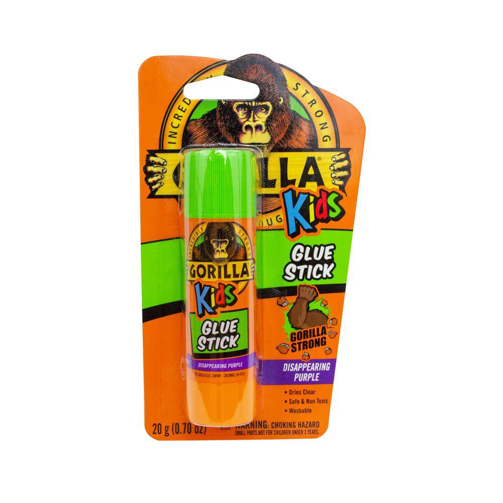 2 Piece 1-Pack Disappearing Purple Gorilla 2605201 School Glue Sticks 4 Pack