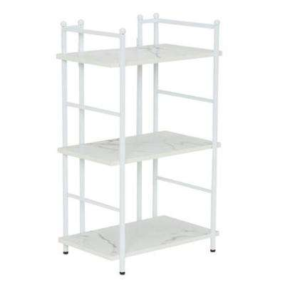 30 in. H x 18 in. W x 12.6 in. D, Narrow, steel frame with Laminate shelves, 3 Shelf Rack